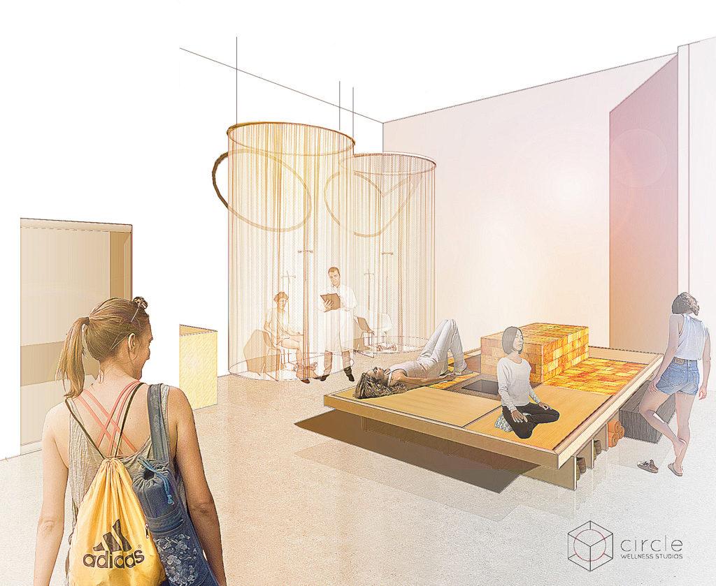 wellness centre concept rendering