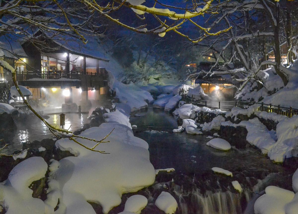 Takaragawa Onsen Winter Snow Osenkaku Ryokan Minakami Gunma