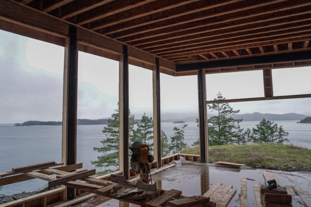 Bowen Island construction build Circle Wellness Studios