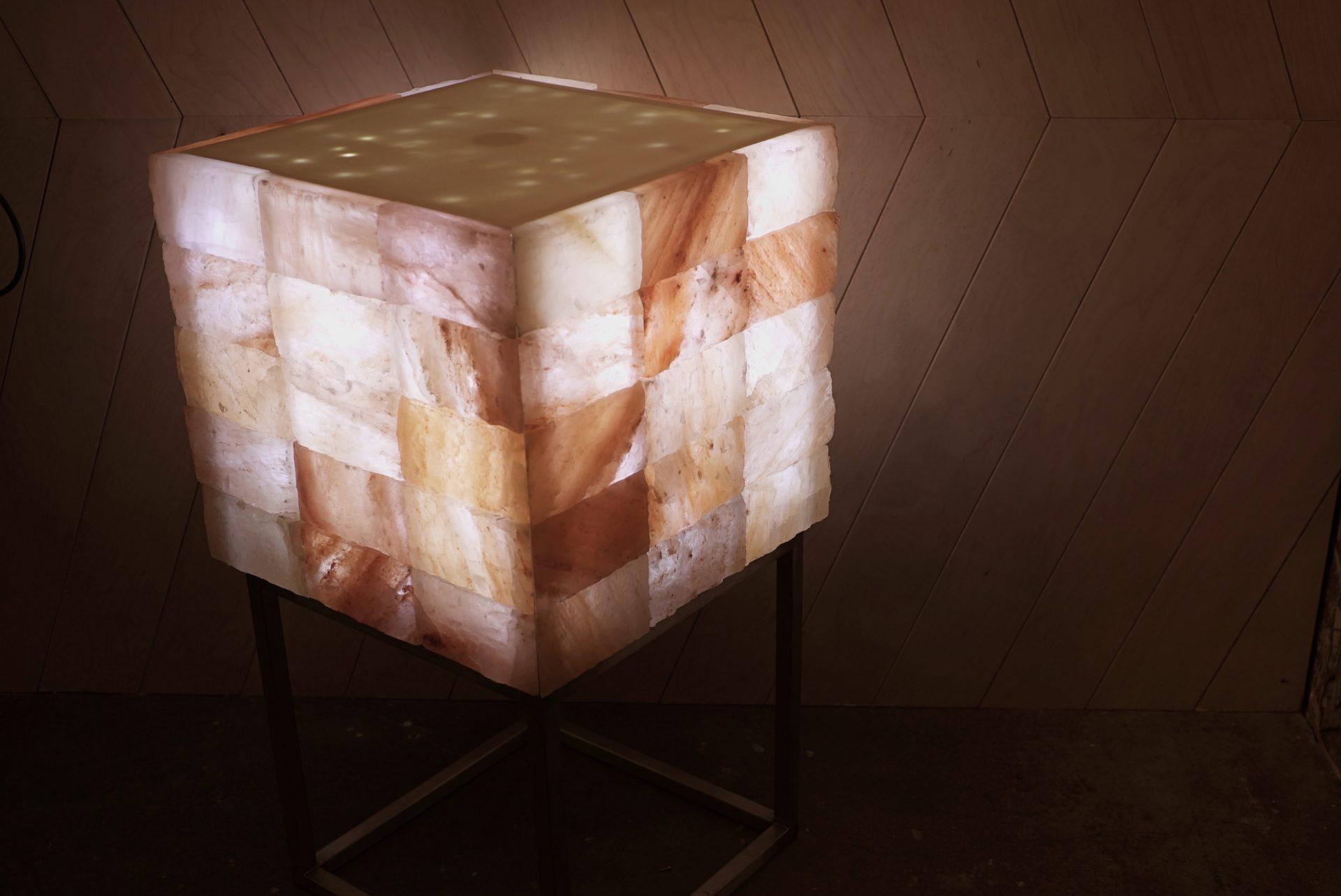 Himalayan Salt wall cube light