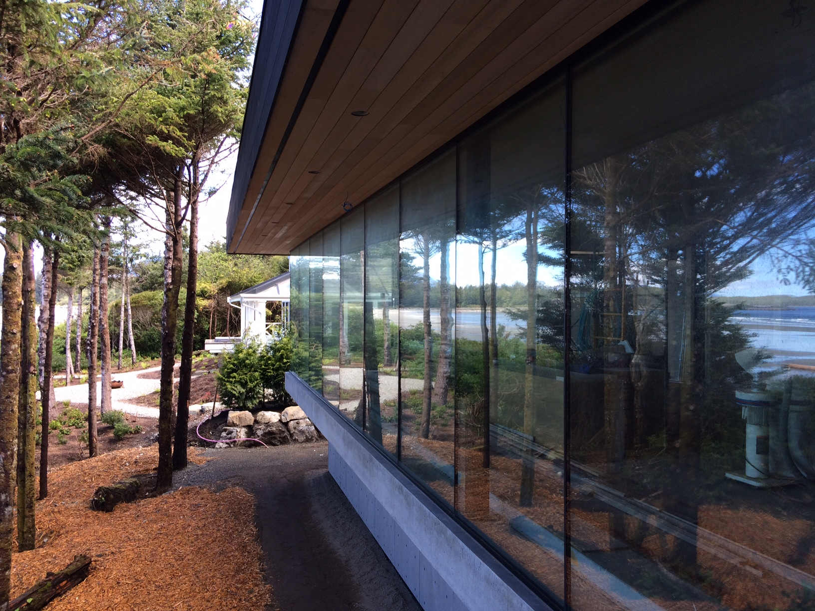 Exterior window shot overlooking the ocean view