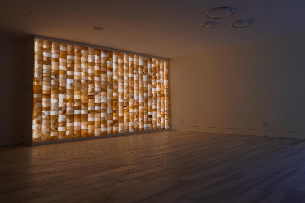 Circle Wellness Studios' salt wall inside home interior