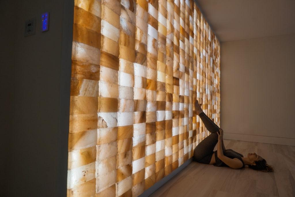 Circle Wellness Studios' Himilayan Salt Wall inside Home