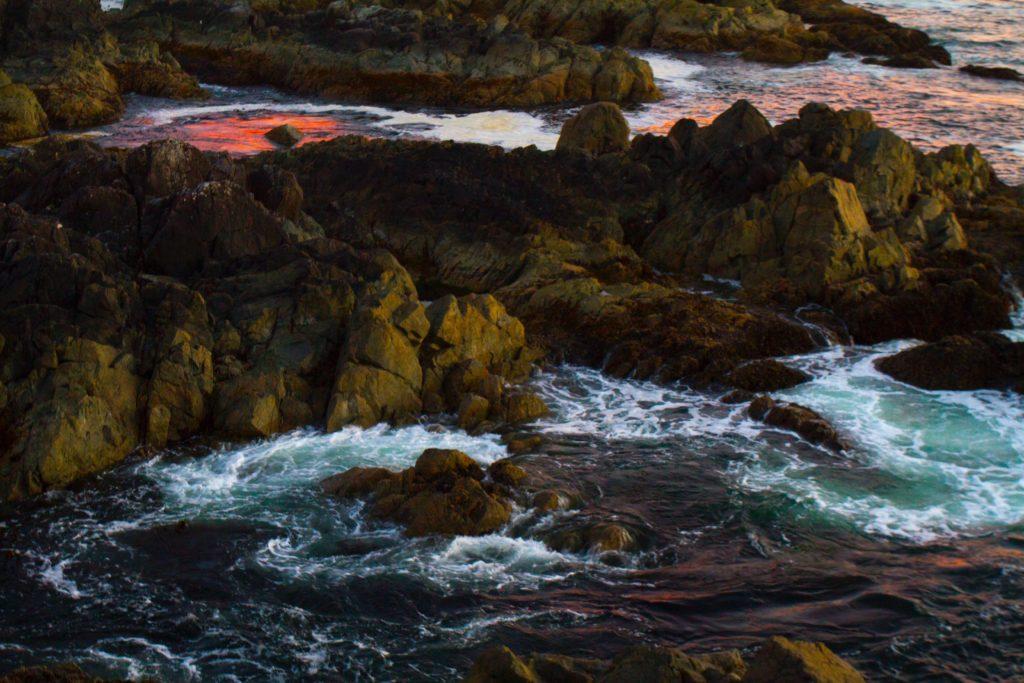Natural Hotspring in an ocean